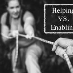 helping vs enabling